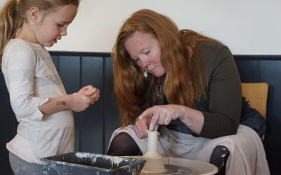Liselore is samen met haar dochter Anna op bezoek geweest naar aanleiding van het kunstproject Zintuigentuin TheeCeremonie!
