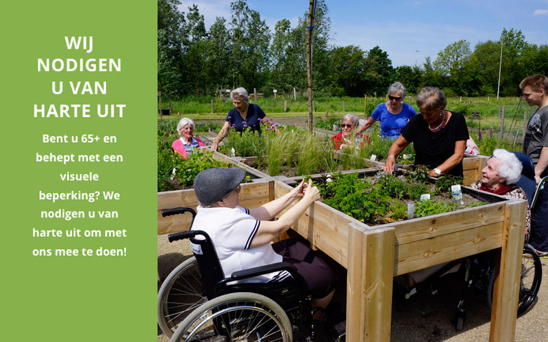 Uitnodiging deelname zintuigentuin voor visueel gehandicapte ouderen