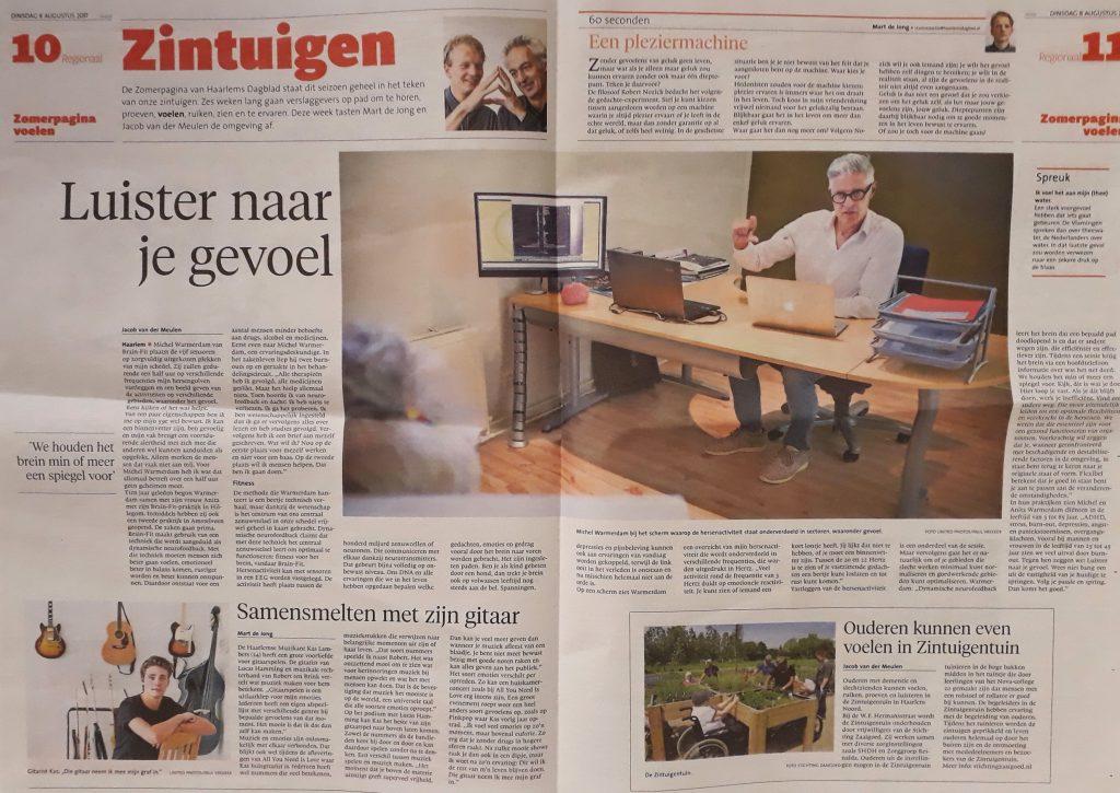 ZaaiGoed Zintuigentuin in het Zintuigenkatern van het Haarlems Dagblad!