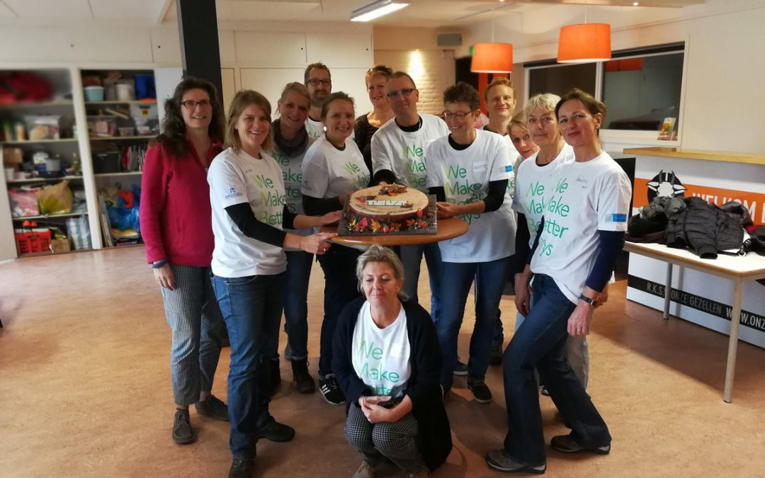 "Teva Pharmachemie uit Haarlem dagje uit met Stichting Zaaigoed ""We make better days"""