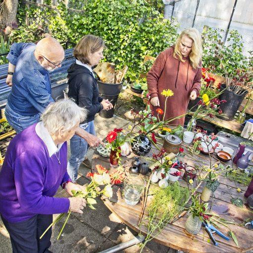 workshop bloemschikken Stichting ZaaiGoed
