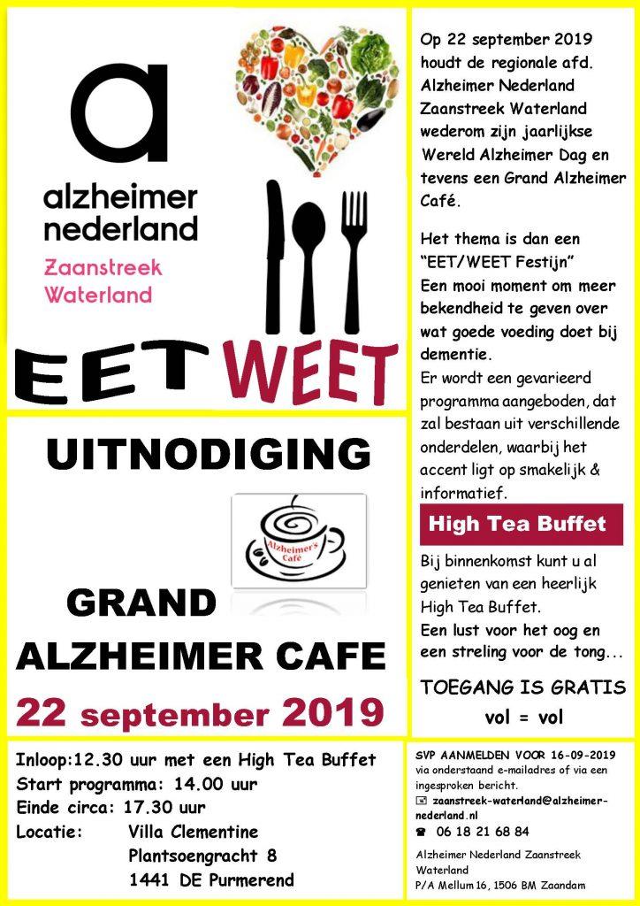 Erika Meershoek spreekt op het EET/WEET Festijn van Alzheimer Nederland
