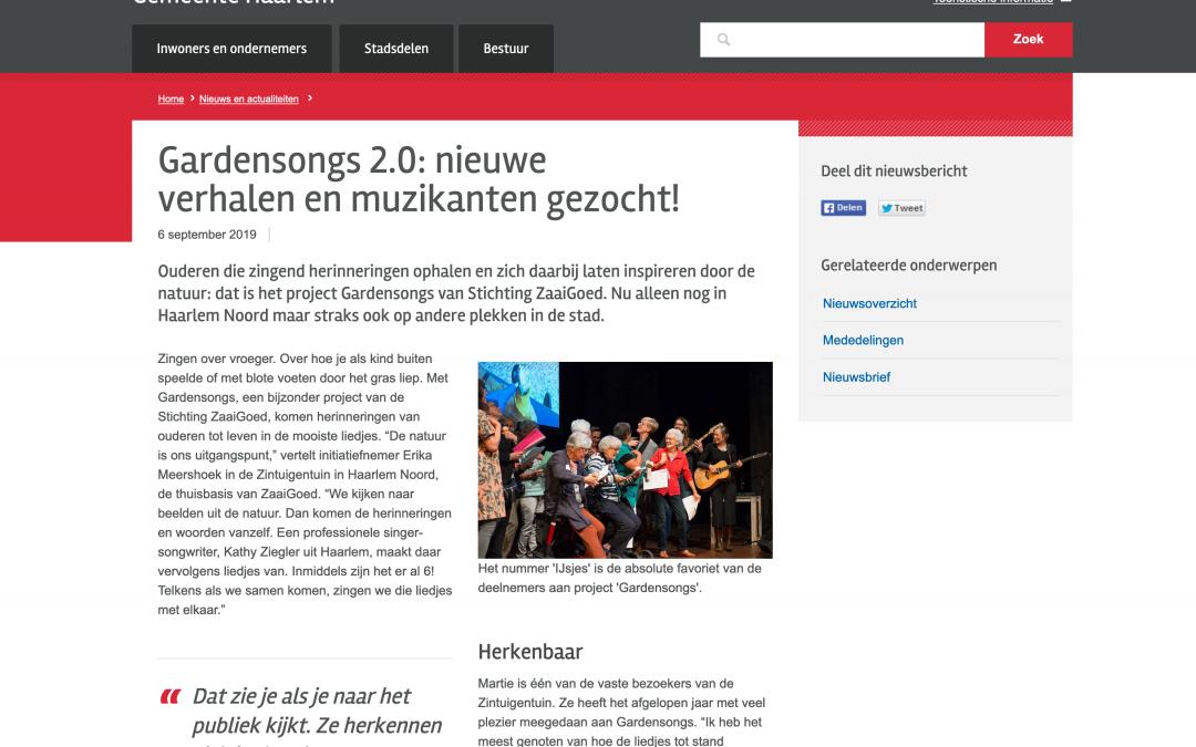 In het Nieuws bij Gemeente Haarlem