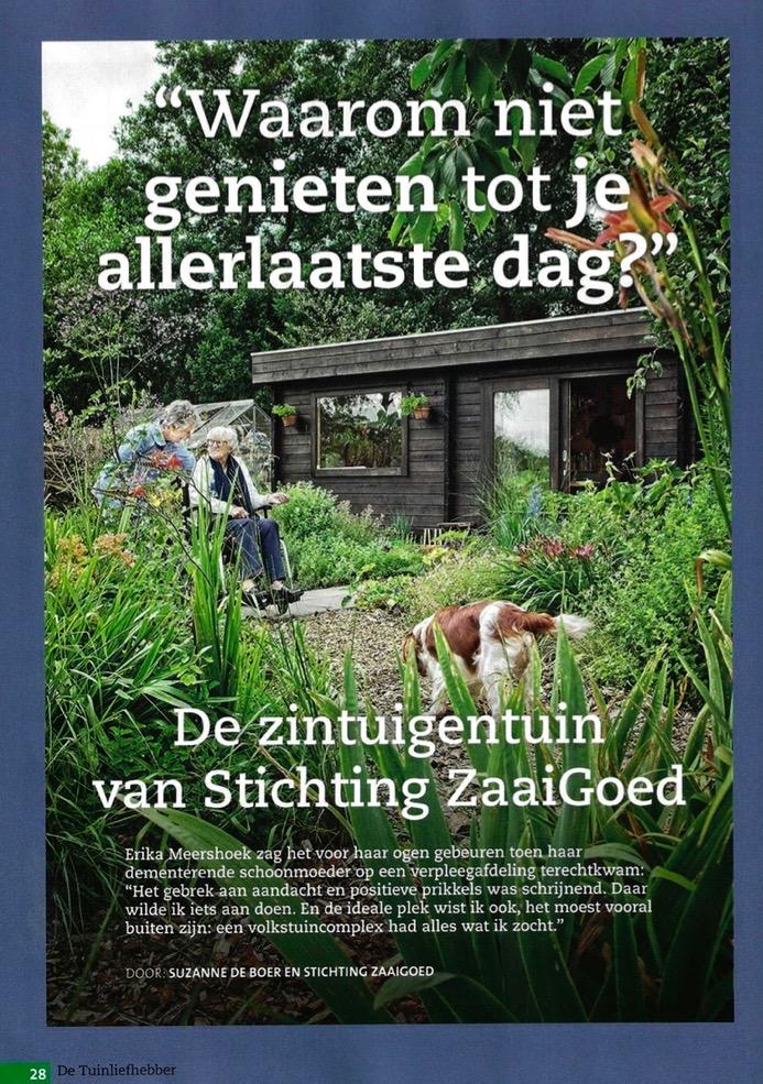 De Zintuigentuin Haarlem met een artikel in de Tuinliefhebber